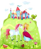 Princess. Vector Illustration of a princess with a horse Stock Image