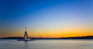 Princess Island in Istanbul, at sunset, panorama stock images