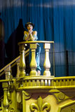Princess Jasmine on the Balcony Close up. GREEN BAY, WI - MARCH 10: Close up of Princess Jasmine on the balcony on skates from Aladdin at the Disney on Ice Stock Photo