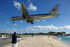 Princess Juliana Airport, St. Maarten Stock Photos