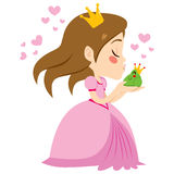 Princess Kissing Frog Prince Royalty Free Stock Photography