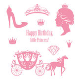 Princess Kopciuszek ustalone kolekcje royalty ilustracja