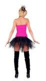 Princess kostium. Tylny widok Zdjęcie Stock