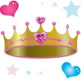 Princess Królewska korona Zdjęcie Stock