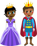 Princess książe dzieciaka czerń Odizolowywający dzieciaki Zdjęcie Royalty Free