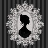 Princess in lace oval frame Royalty Free Stock Photography
