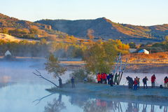 The princess lake. Autumn, Inner Mongolia has a lot of, photography enthusiasts to photography Stock Photo