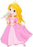 Princess licks lollipop vector illustration