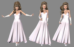Princess in Light Pink Dress Stock Photo