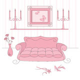 Princess living room Royalty Free Stock Image