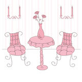 Princess living room Royalty Free Stock Images