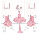 Princess living room. Vector illustration of a  princess living room Royalty Free Stock Images