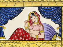 Painting of an Indian princess. Stock Image