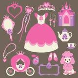 princess mały set royalty ilustracja