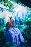 Princess in magic forest Royalty Free Stock Images