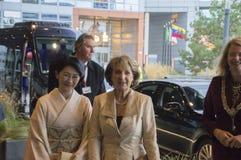 Princess Magriet I Princess Akishino Przy Światową forum meliną Haag Dla ceremonii Światowa konferencja Na Zwalczać TB 2018 fotografia stock