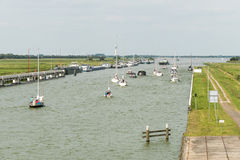 Princess Margriet canal in Lemmer. Royalty Free Stock Photos