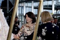 PRINCESS MARY VISITS CIFF_FASHION WEEK Royalty Free Stock Photos