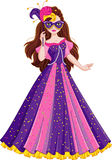 Princess Masquerade. Image Princess dress for masquerade Royalty Free Stock Photos