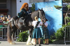 Princess Merida at Brave premiere Stock Image