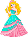 Princess Mermaid. Mermaid princess in a beautiful ball dress Stock Photography