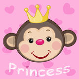 Princess Monkey stock illustration