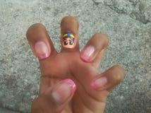 Princess Nail art. Princess nails wow Royalty Free Stock Photos