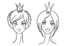 Princess. Nakreślenie styl Obrazy Royalty Free