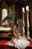 Princess next to the throne Royalty Free Stock Image