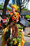 Princess of oahu hawaiian aloha festivals 2010 Royalty Free Stock Photography