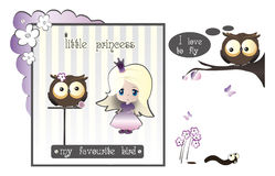 Princess and owl Stock Photo