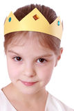 Princess with papper crown Stock Images