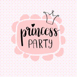 Princess Party Bridal shower card design. Stock Photography