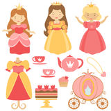 Princess party collection Royalty Free Stock Photo