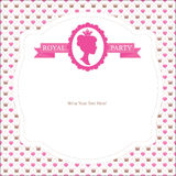 Princess party invitation Stock Images
