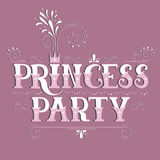 Princess Party lettering Stock Image