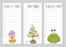 Princess party To do list Royalty Free Stock Photos