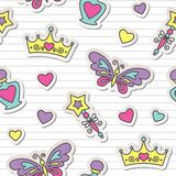 Princess pattern Royalty Free Stock Photos