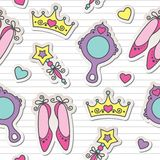 Princess pattern Stock Image
