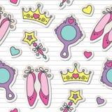 Princess pattern stock illustration