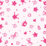 Princess pattern. background for girls. crown Royalty Free Stock Images