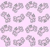 princess pattern seamless Royalty Free Stock Photography