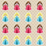 Princess pattern stock illustration