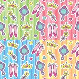 Princess patterns set Royalty Free Stock Image