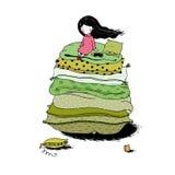 Princess on the Pea. Stock Image