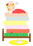 The Princess and the pea Royalty Free Stock Image