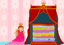Princess and the pea Royalty Free Stock Image