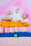 Princess on a pea Stock Image