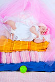 Princess on a pea Stock Images