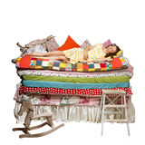 Princess and the Pea isolated white background Stock Images